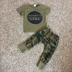 Other - Daddy's Girl Camo Outfit